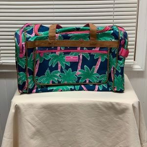 NWT Simply Southern Duffle Bag Palm Trees